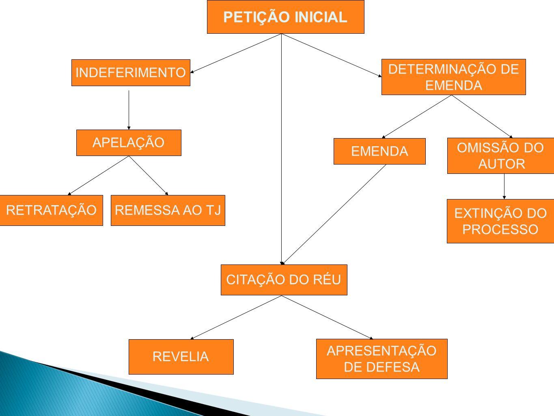 PETIÇÃO INICIAL DETERMINAÇÃO DE EMENDA INDEFERIMENTO APELAÇÃO