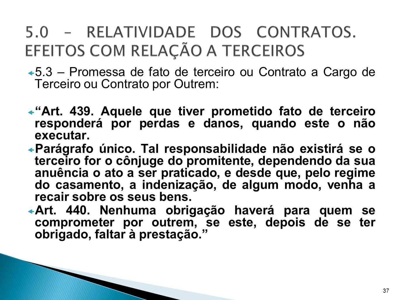 5.3 – Promessa de fato de terceiro ou Contrato a Cargo de Terceiro ou Contrato por Outrem: