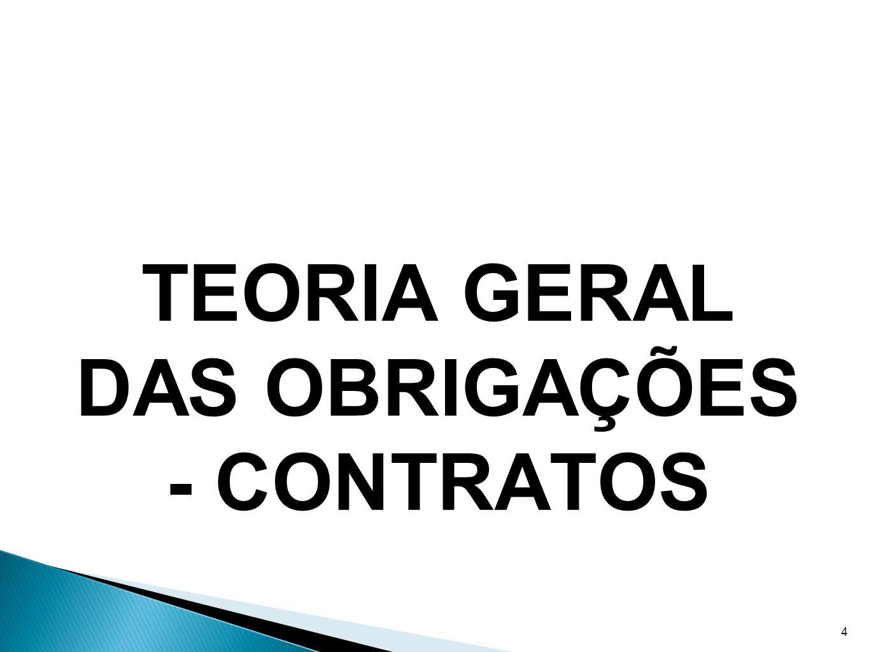 TEORIA GERAL DAS OBRIGAÇÕES - CONTRATOS