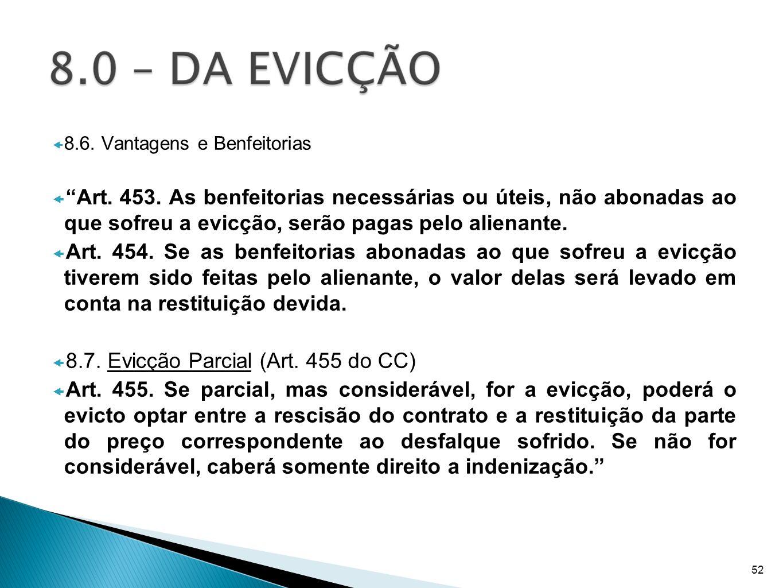 8.7. Evicção Parcial (Art. 455 do CC)