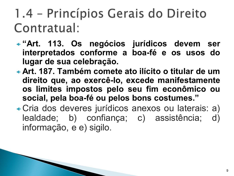 Art. 113. Os negócios jurídicos devem ser interpretados conforme a boa-fé e os usos do lugar de sua celebração.