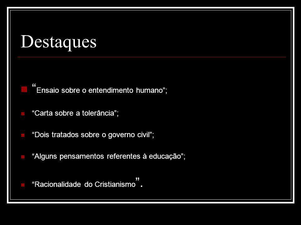 Destaques Ensaio sobre o entendimento humano ;