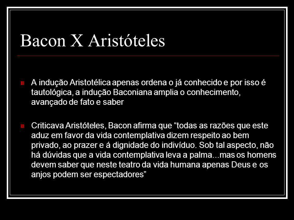 Bacon X Aristóteles