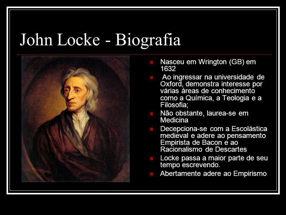 John Locke - Biografia Nasceu em Wrington (GB) em 1632