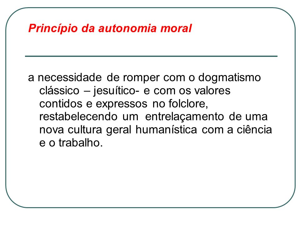 Princípio da autonomia moral