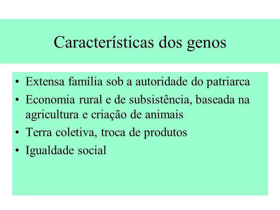 Características dos genos