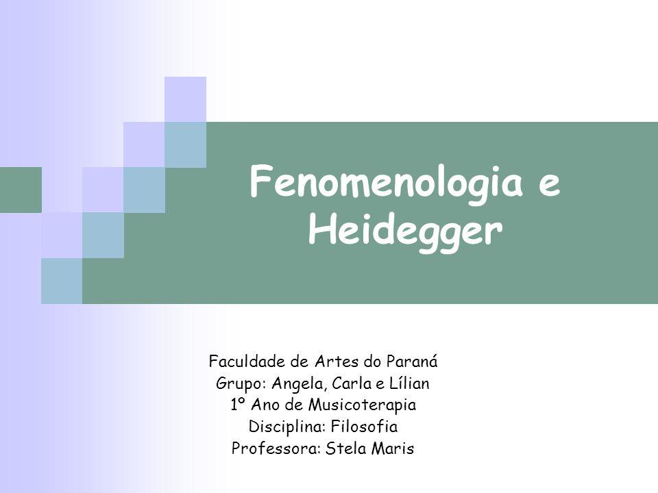 Fenomenologia e Heidegger