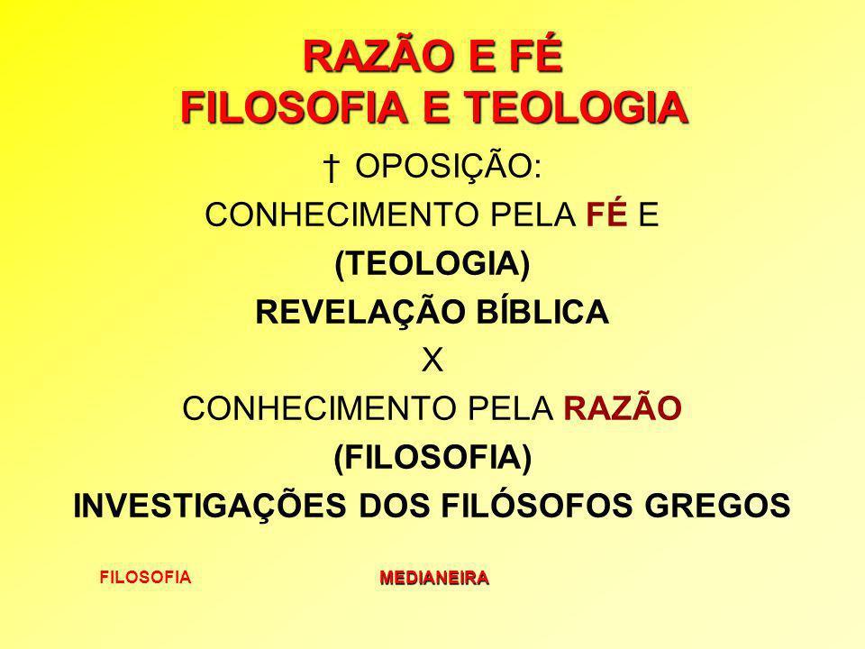 RAZÃO E FÉ FILOSOFIA E TEOLOGIA
