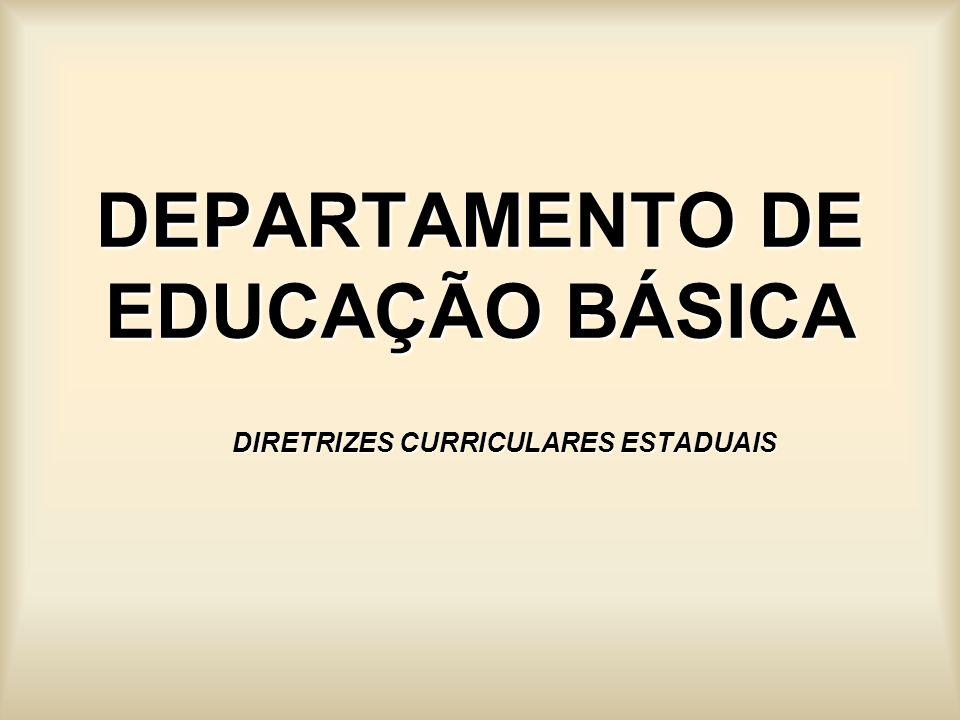 DEPARTAMENTO DE EDUCAÇÃO BÁSICA