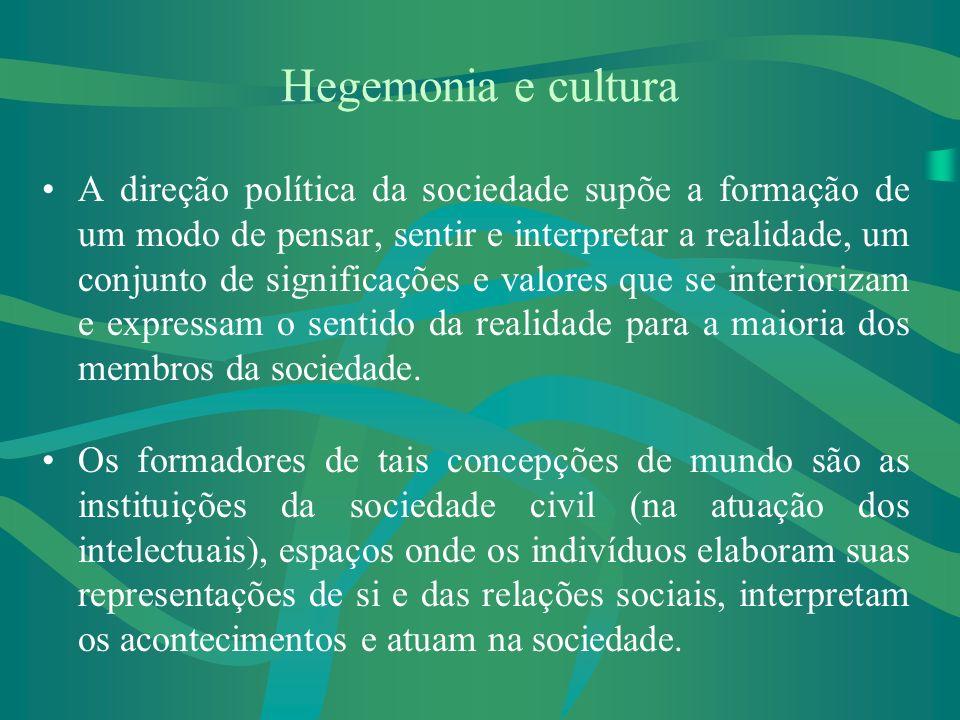 Hegemonia e cultura