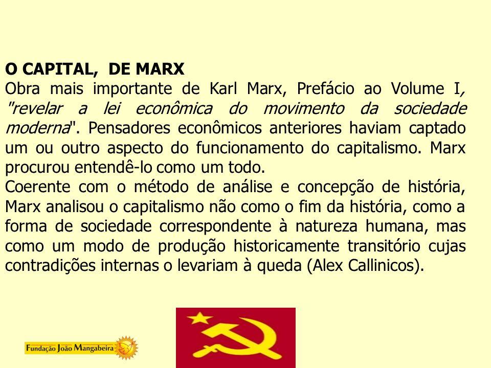 O CAPITAL, DE MARX