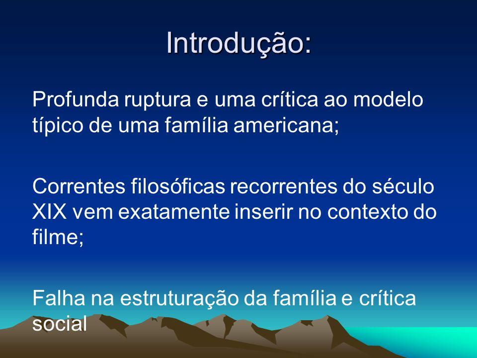 Introdução: Profunda ruptura e uma crítica ao modelo típico de uma família americana;