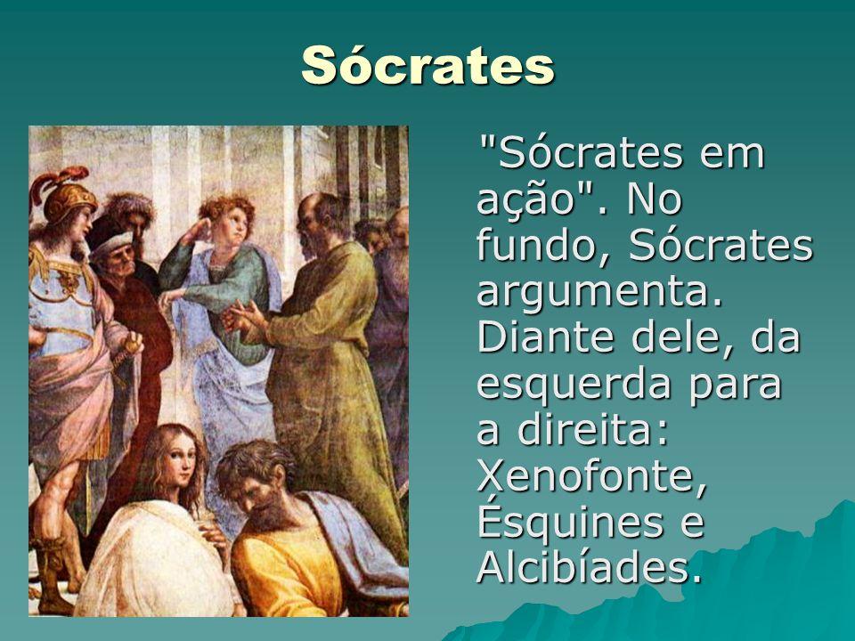 Sócrates Sócrates em ação .No fundo, Sócrates argumenta.