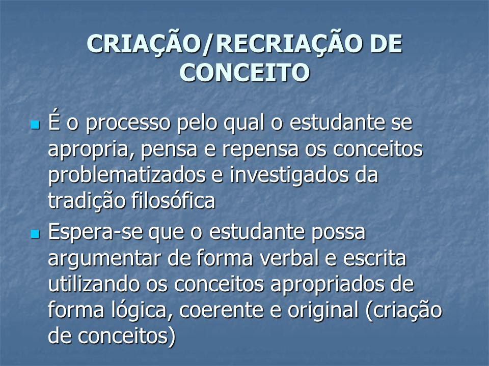 CRIAÇÃO/RECRIAÇÃO DE CONCEITO