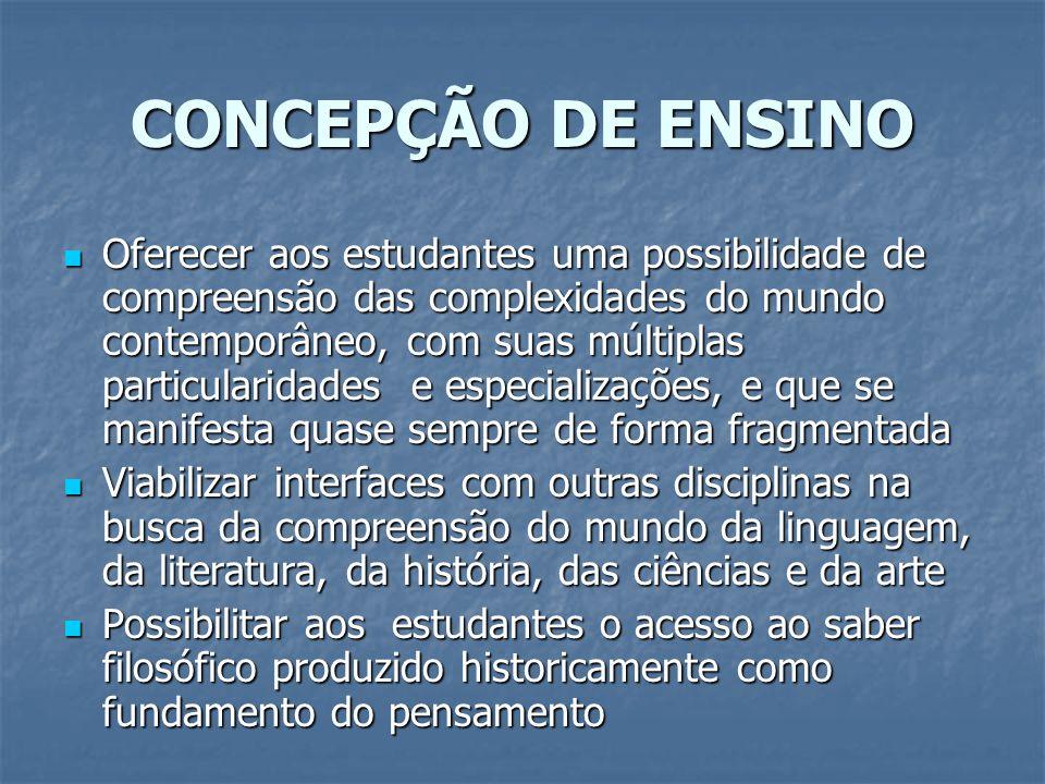 CONCEPÇÃO DE ENSINO