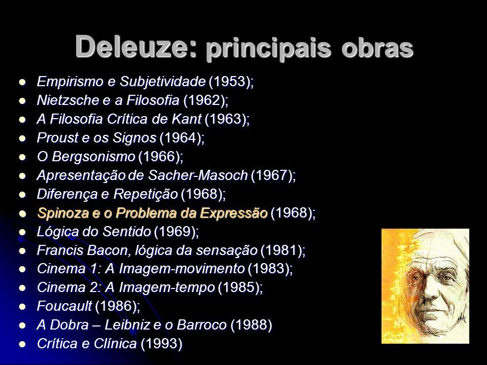 Deleuze: principais obras