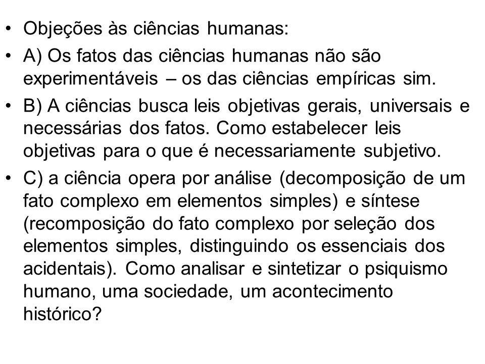Objeções às ciências humanas: