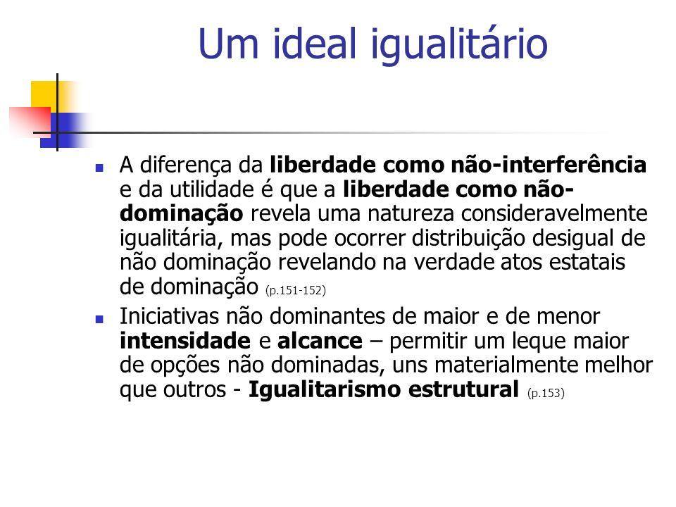 Um ideal igualitário