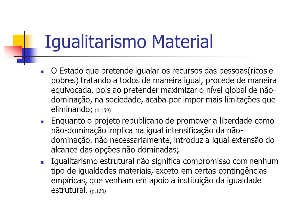 Igualitarismo Material