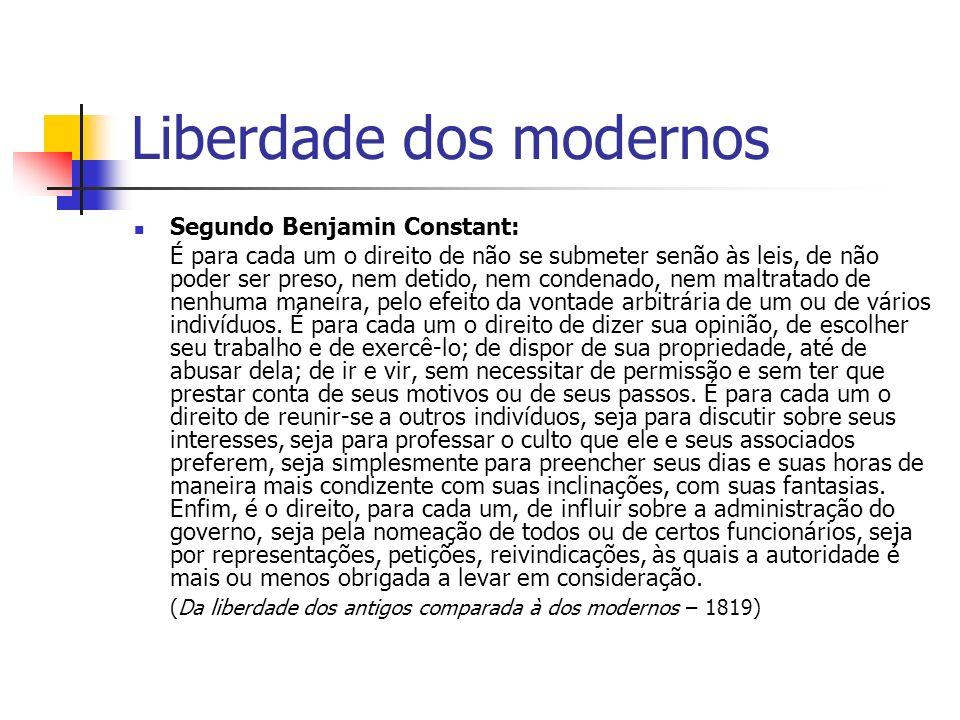 Liberdade dos modernos
