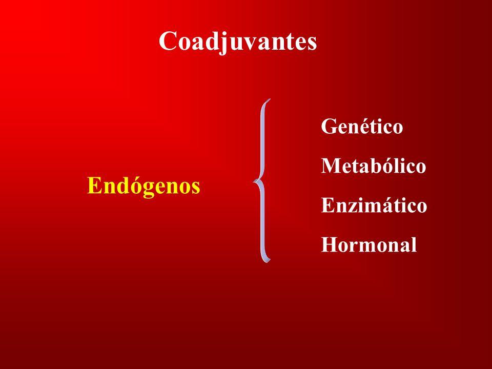 Coadjuvantes Genético Metabólico Enzimático Hormonal Endógenos