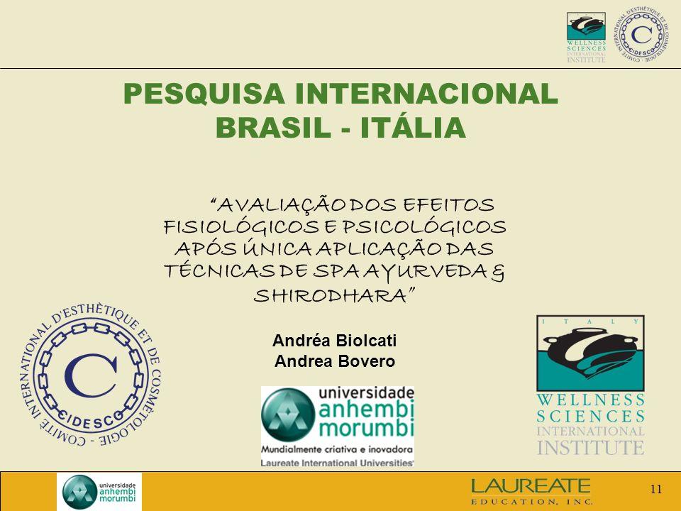 PESQUISA INTERNACIONAL BRASIL - ITÁLIA