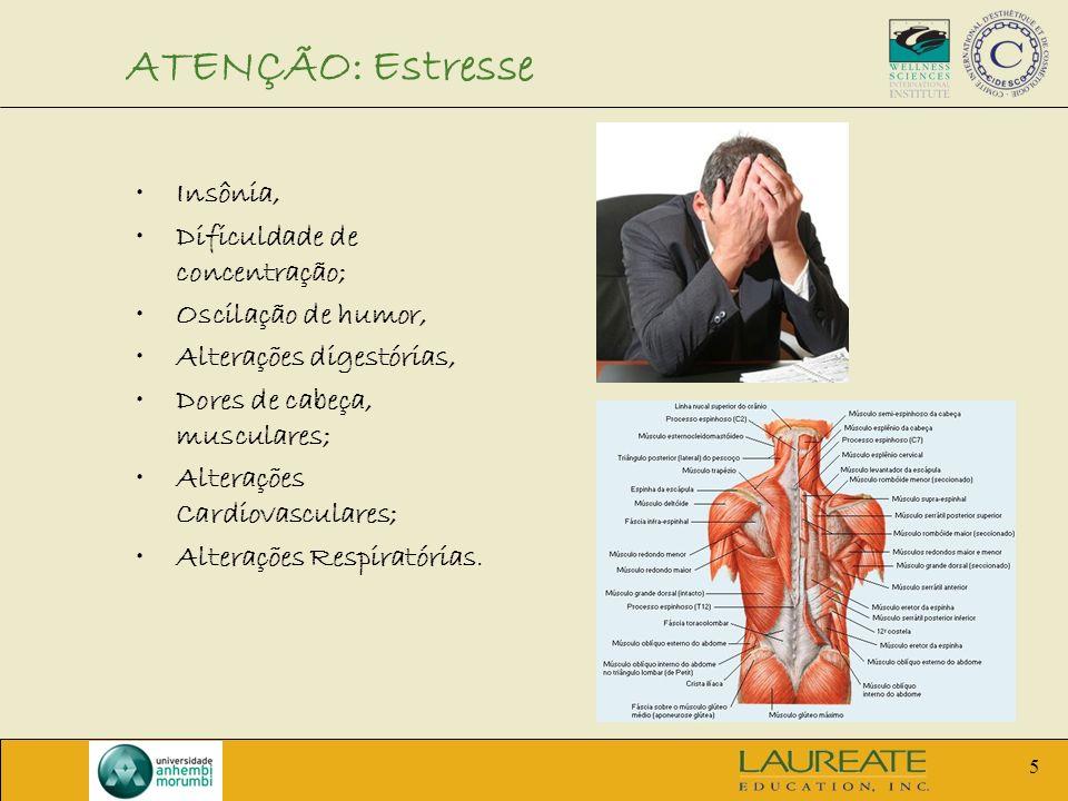ATENÇÃO: Estresse Insônia, Dificuldade de concentração;