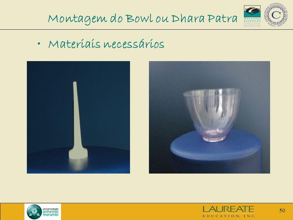 Montagem do Bowl ou Dhara Patra