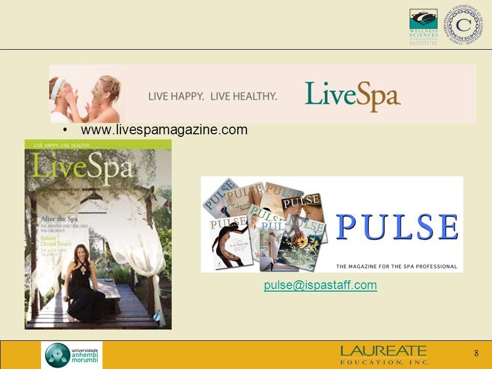 www.livespamagazine.com pulse@ispastaff.com