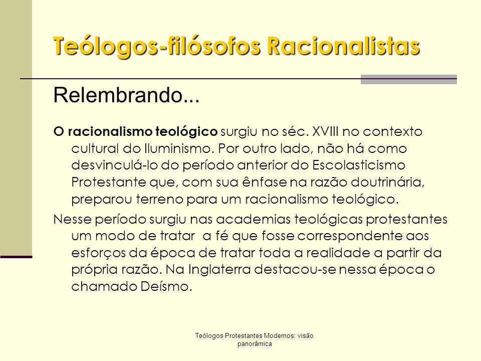 Teólogos-filósofos Racionalistas