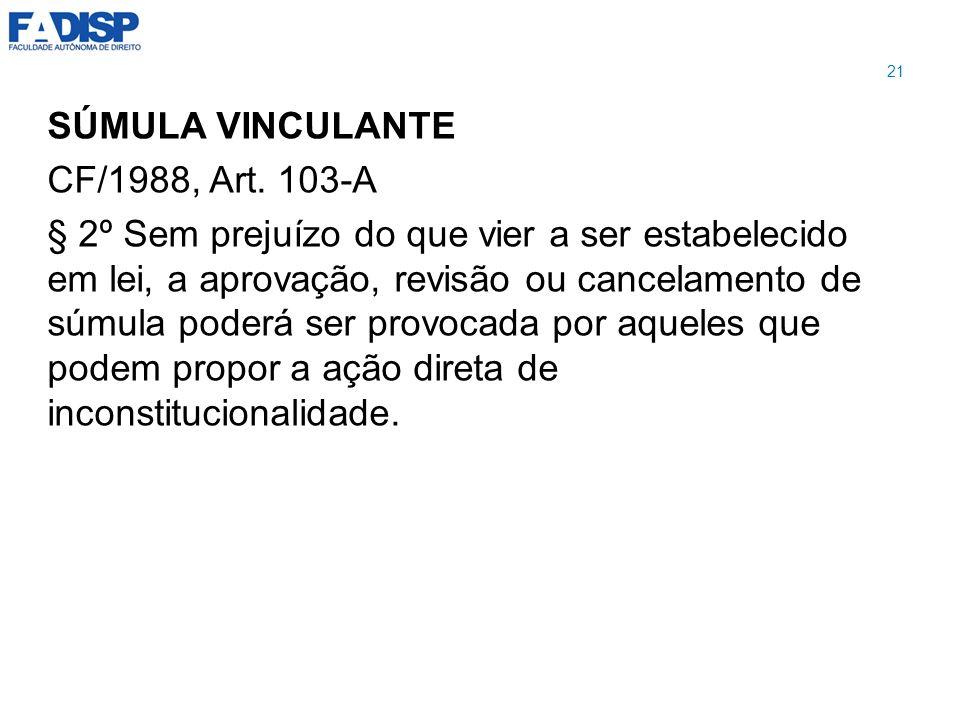 SÚMULA VINCULANTE CF/1988, Art. 103-A