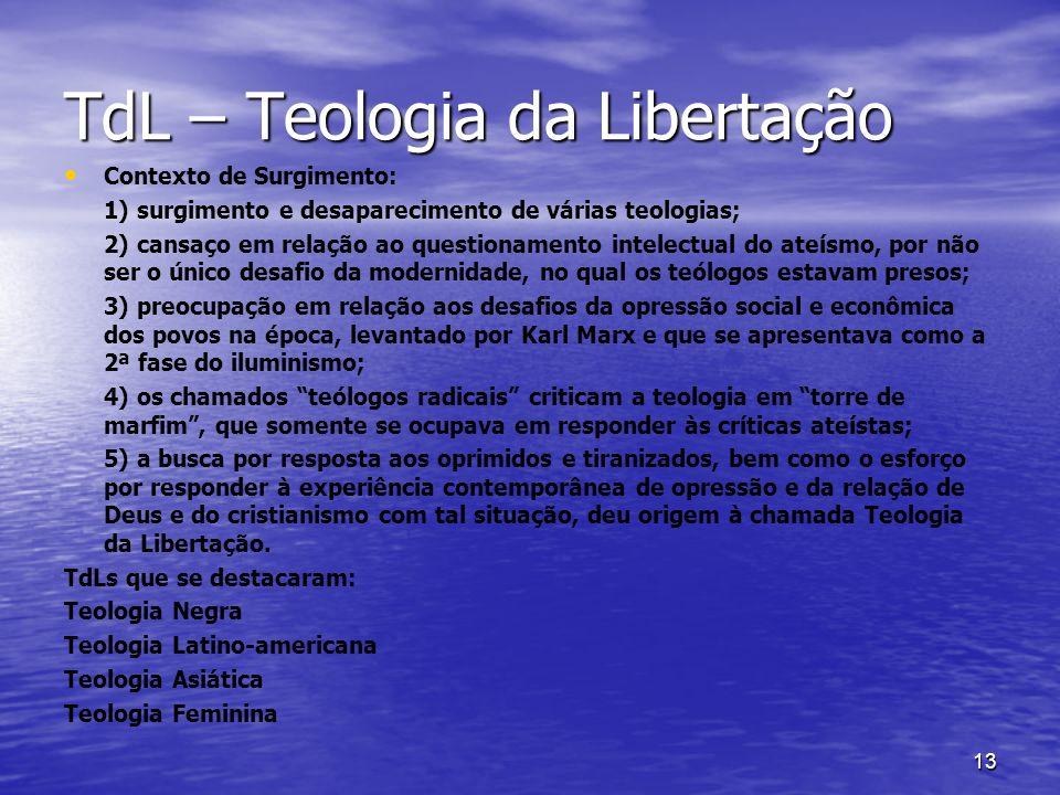 TdL – Teologia da Libertação