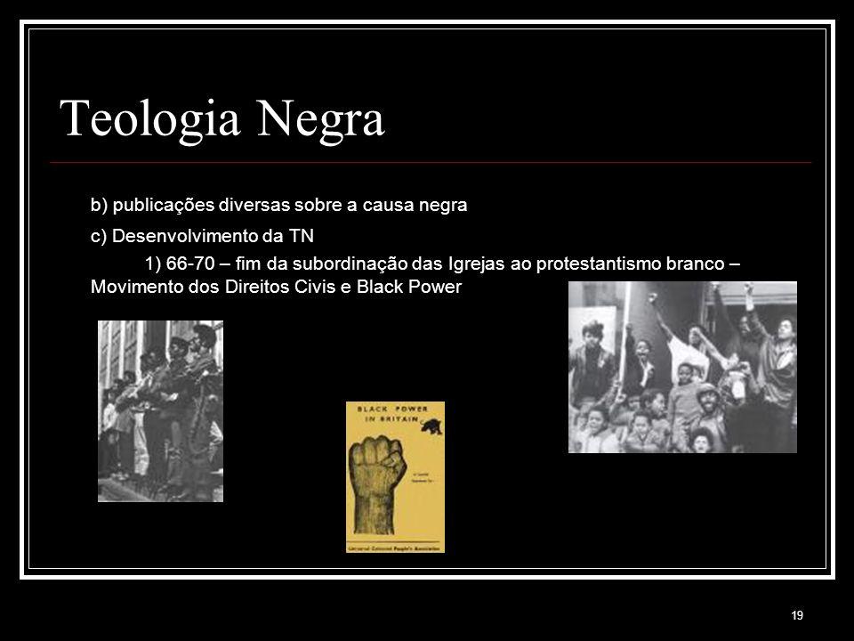 Teologia Negra b) publicações diversas sobre a causa negra