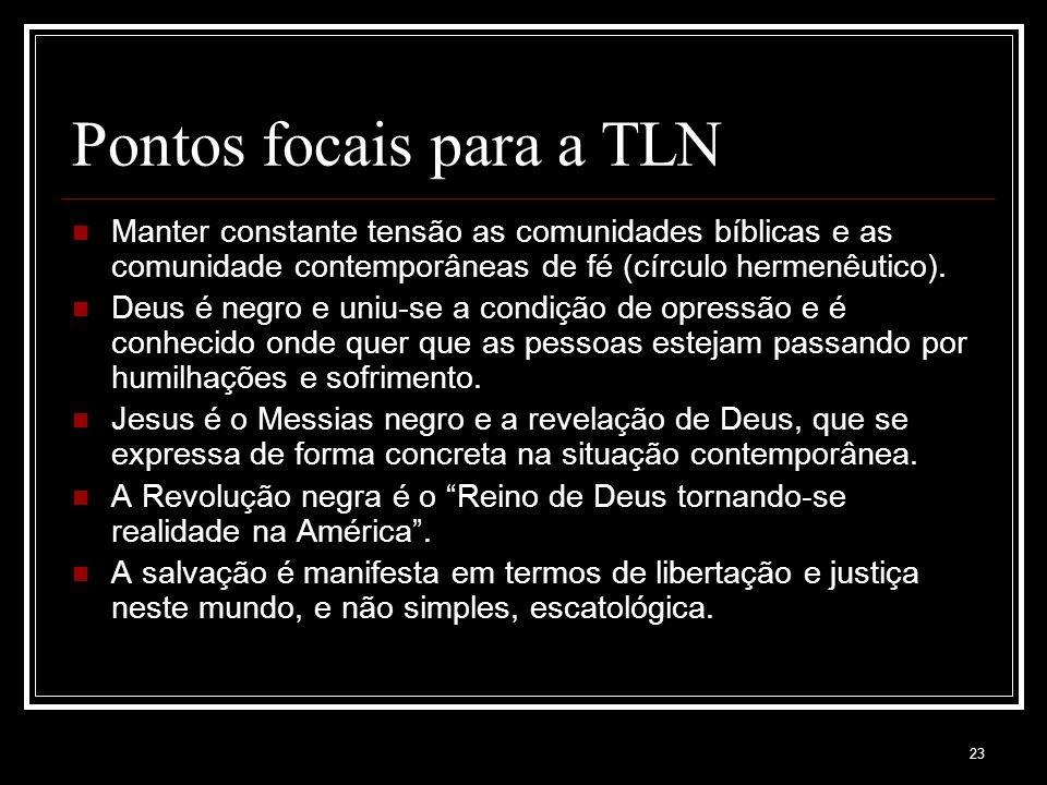 Pontos focais para a TLN