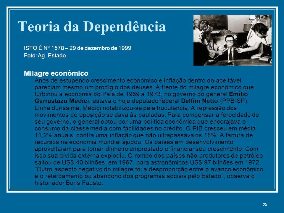 Teoria da Dependência ISTO É Nº 1578 – 29 de dezembro de 1999 Foto: Ag. Estado.