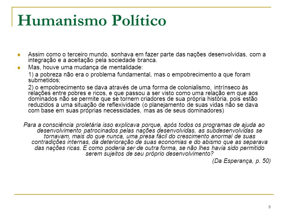 Humanismo Político