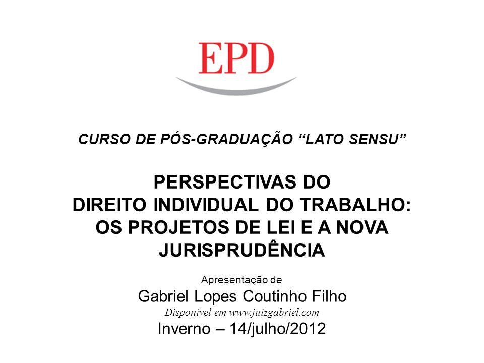 DIREITO INDIVIDUAL DO TRABALHO: