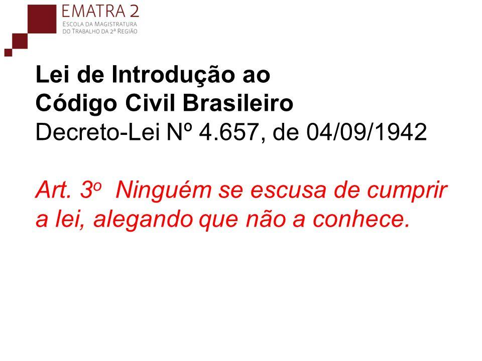 Lei de Introdução ao Código Civil Brasileiro Decreto-Lei Nº 4