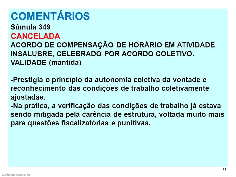 COMENTÁRIOS CANCELADA Súmula 349