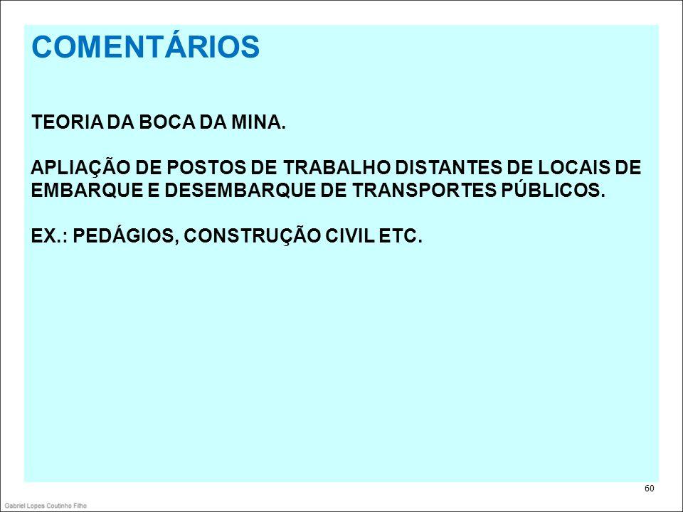 COMENTÁRIOS TEORIA DA BOCA DA MINA.