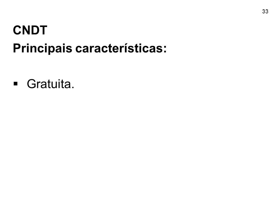 CNDT Principais características: Gratuita.