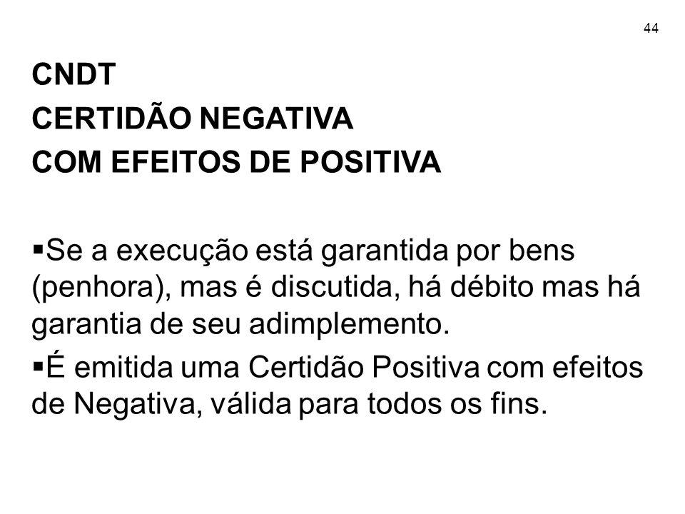 COM EFEITOS DE POSITIVA