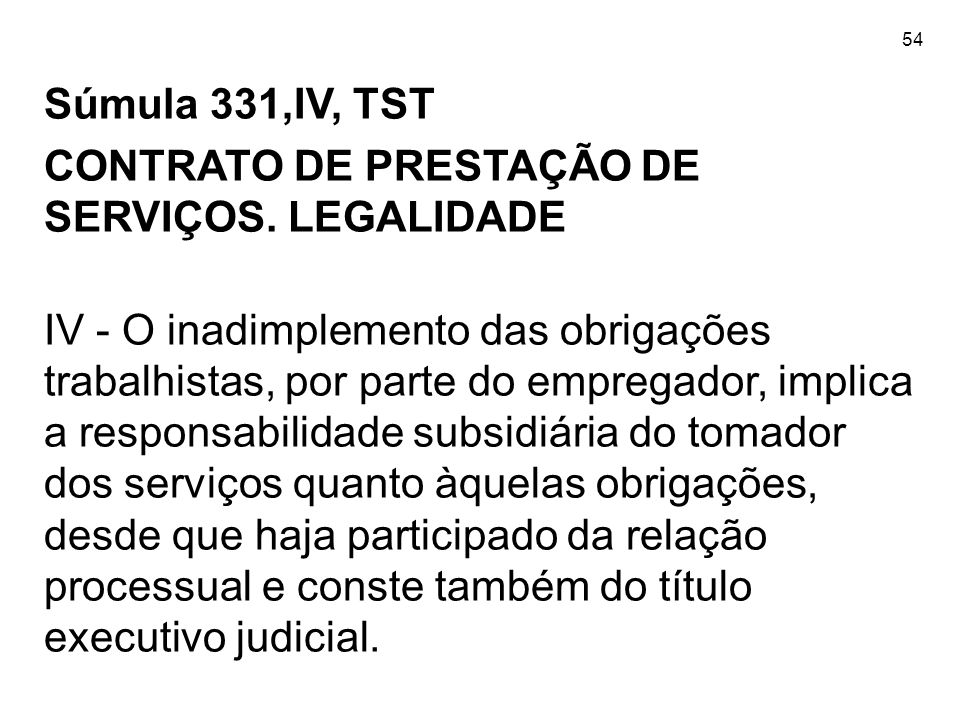 CONTRATO DE PRESTAÇÃO DE SERVIÇOS. LEGALIDADE