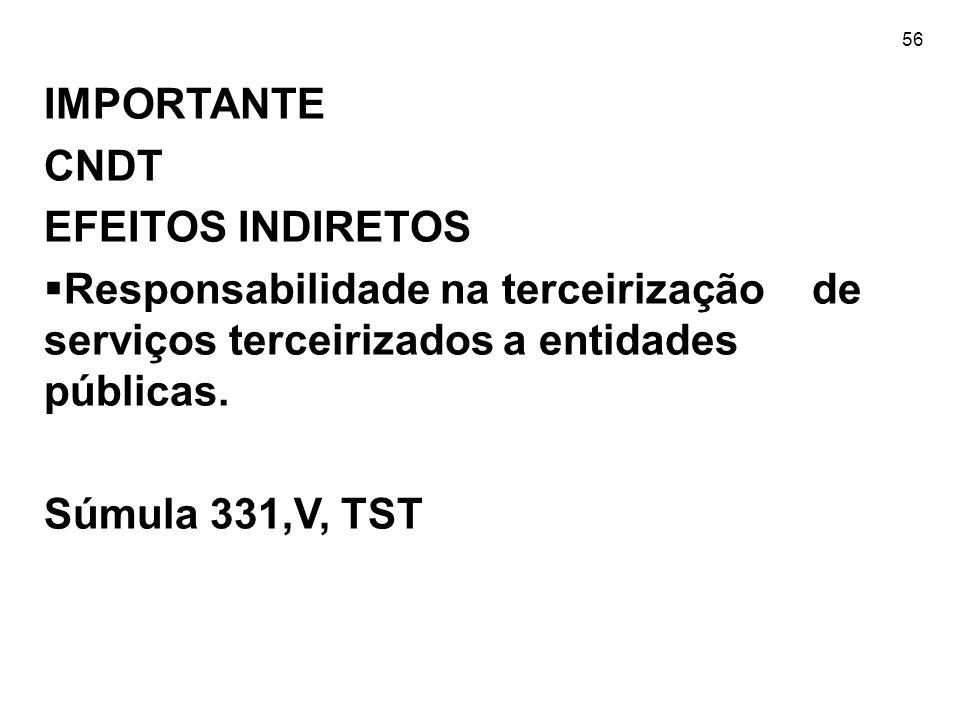 IMPORTANTE CNDT EFEITOS INDIRETOS