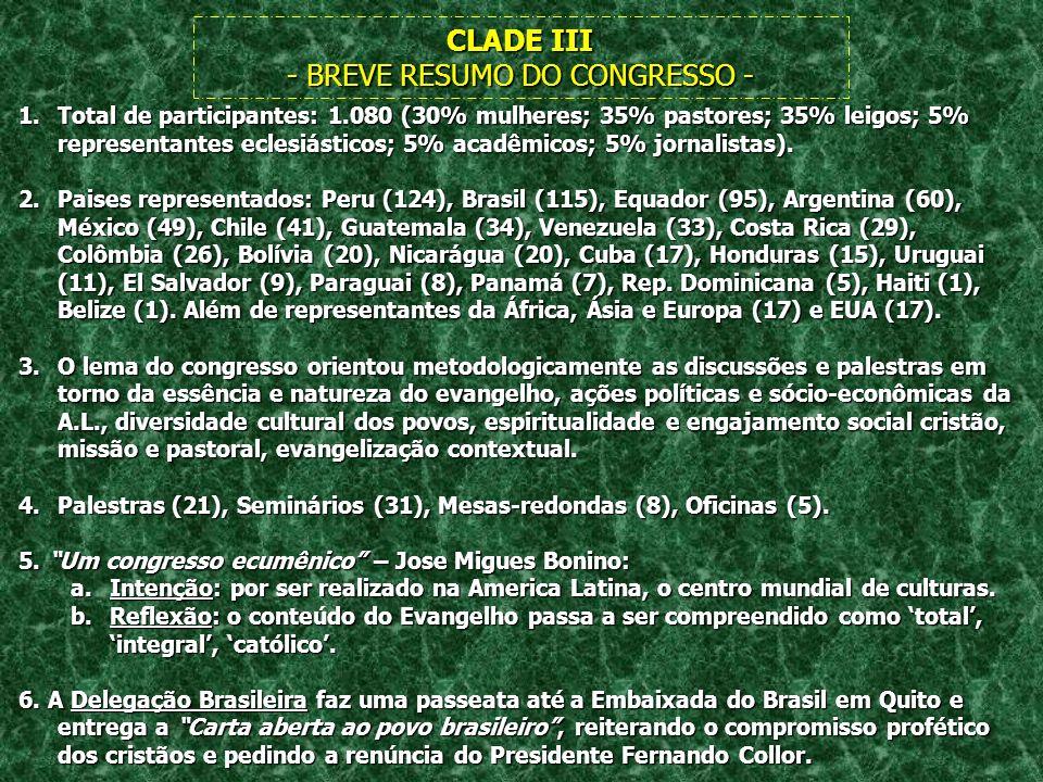- BREVE RESUMO DO CONGRESSO -