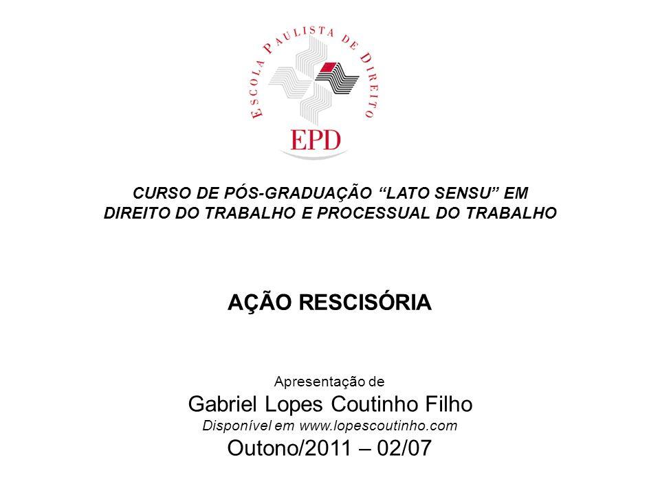DIREITO DO TRABALHO E PROCESSUAL DO TRABALHO