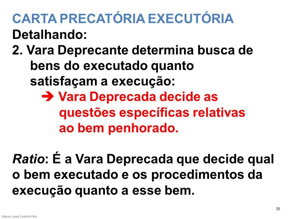 CARTA PRECATÓRIA EXECUTÓRIA Detalhando: 2