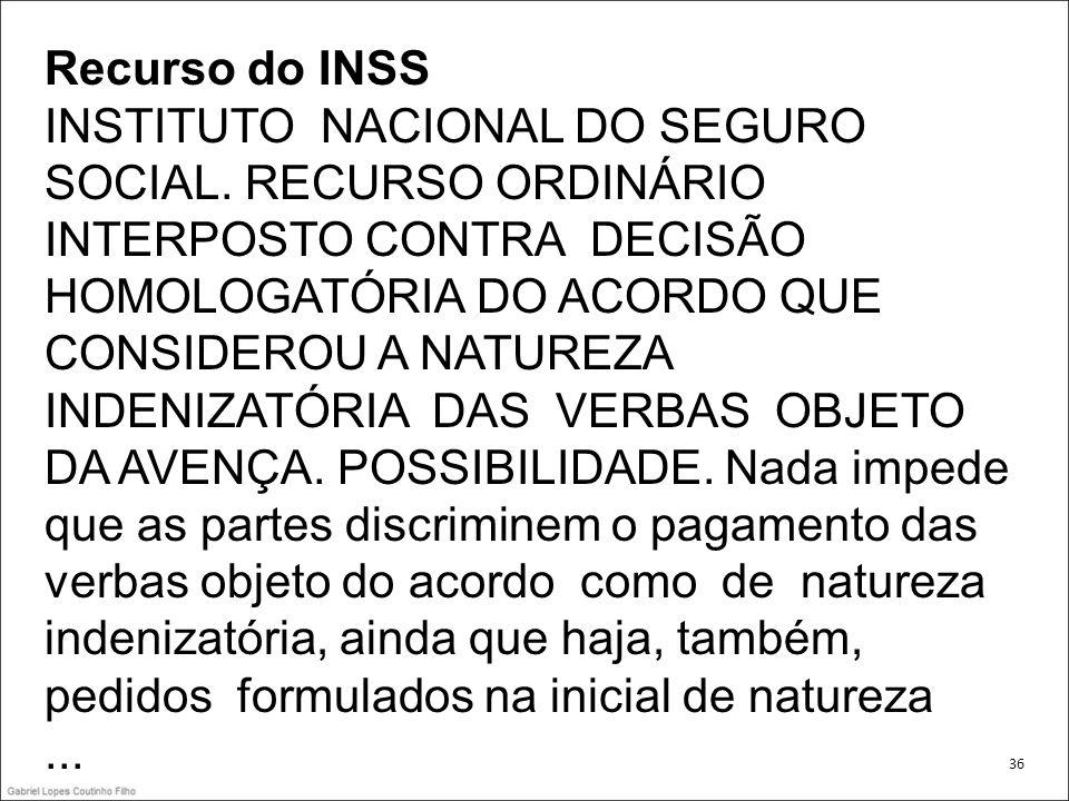 Recurso do INSS