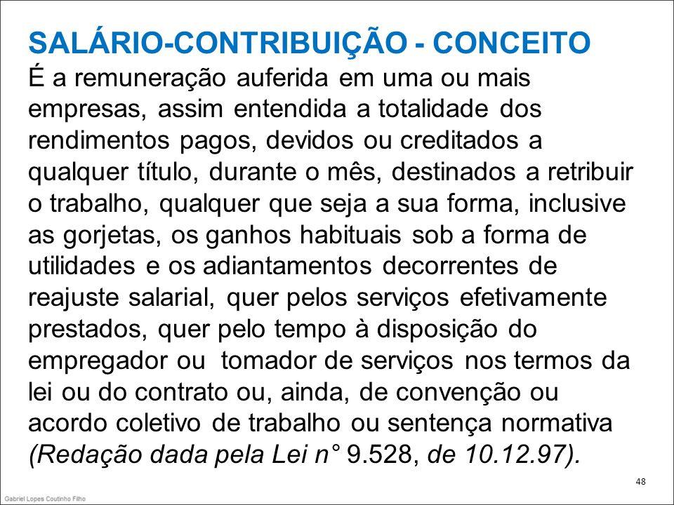 SALÁRIO-CONTRIBUIÇÃO - CONCEITO