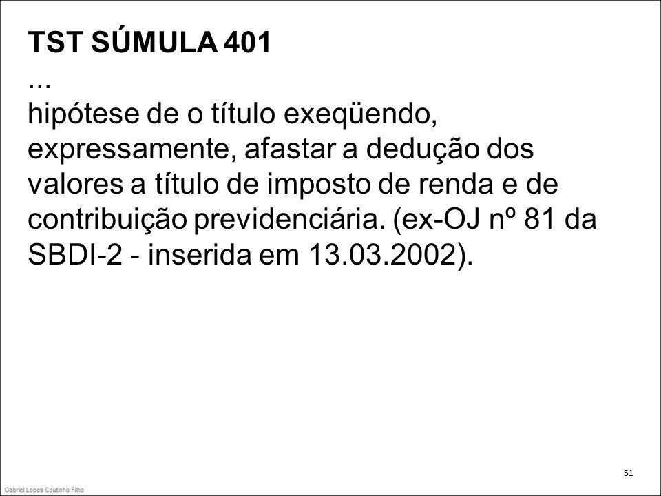 TST SÚMULA 401 ...